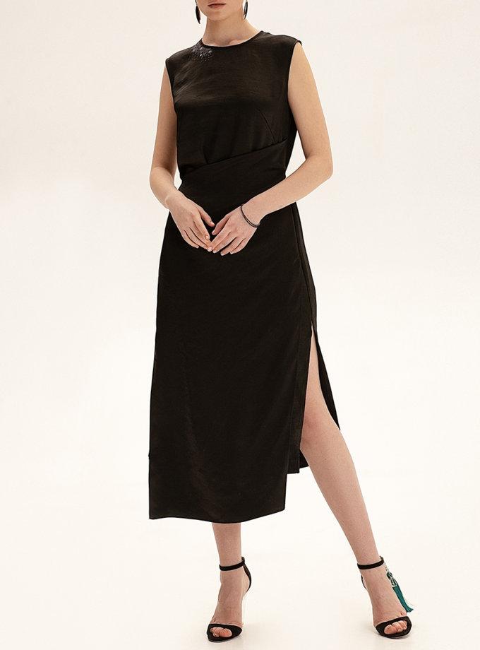 Платье миди с вышивкой WNDR_ss21_sblck_04, фото 1 - в интернет магазине KAPSULA