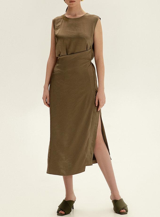 Платье миди с вышивкой WNDR_ss21_sol_04, фото 1 - в интернет магазине KAPSULA