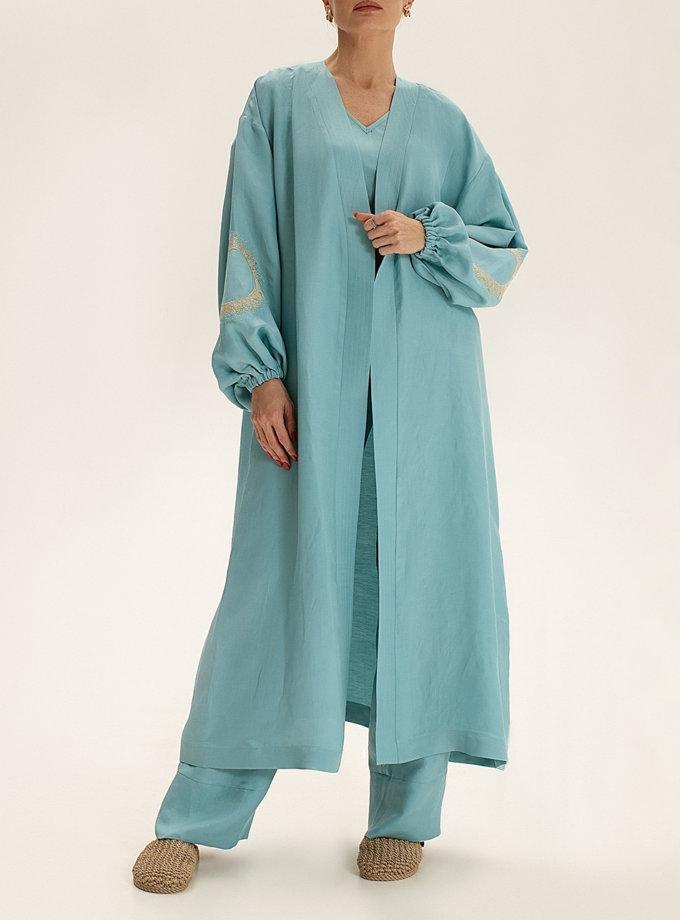 Длинное кимоно из льна WNDR_ss21_lbi_02, фото 1 - в интернет магазине KAPSULA