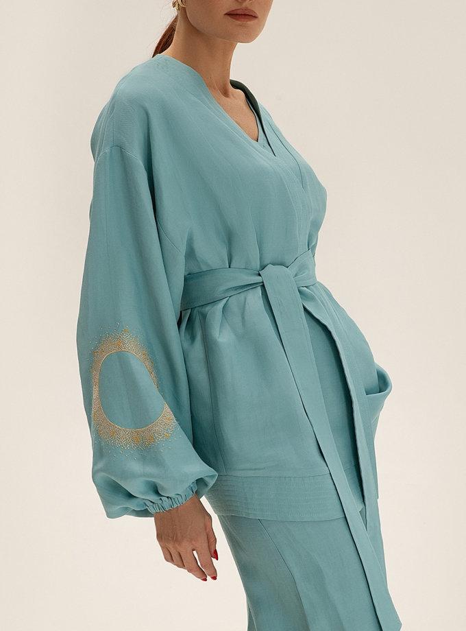 Короткое кимоно из льна WNDR_ss21_lbi_01, фото 1 - в интернет магазине KAPSULA