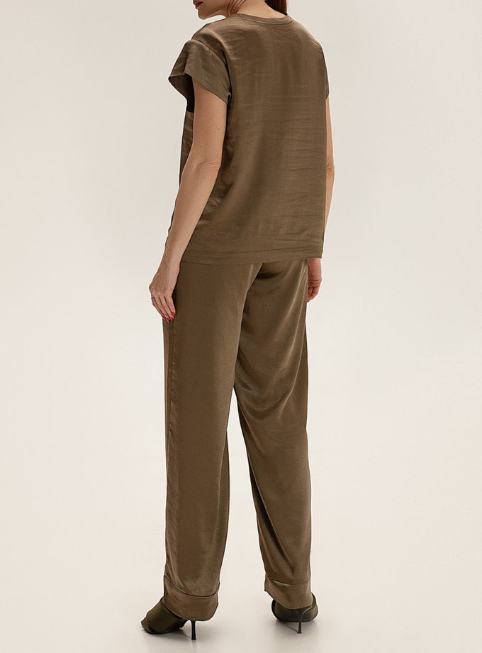 Сатиновые брюки свободного кроя WNDR_ss21_sol_02, фото 1 - в интернет магазине KAPSULA