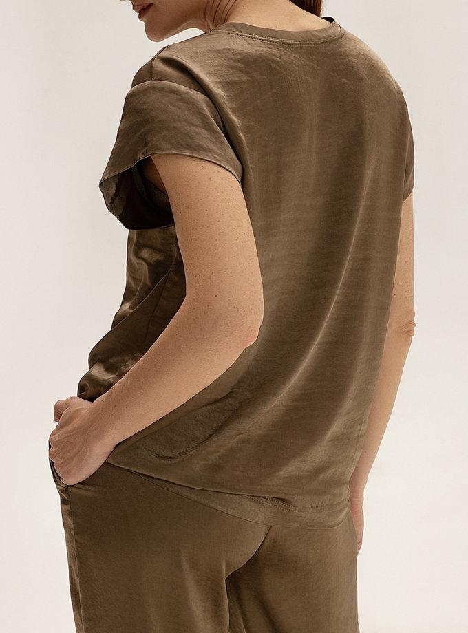 Сатиновый топ с вышивкой WNDR_ss21_sol_01, фото 1 - в интернет магазине KAPSULA