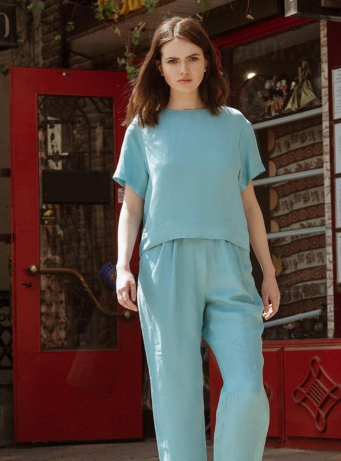 Зауженные брюки из льна WNDR_ss21_lbi_06-1, фото 1 - в интернет магазине KAPSULA