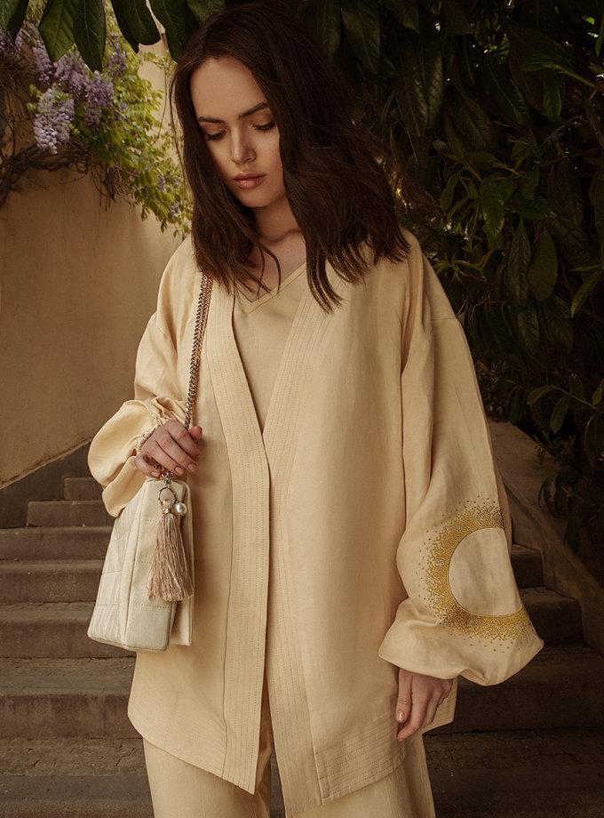 Короткое кимоно из льна WNDR_ss21_lml_01, фото 1 - в интернет магазине KAPSULA