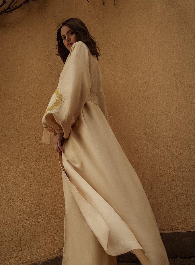 Длинное кимоно из льна WNDR_ss21_lml_02, фото 1 - в интернет магазине KAPSULA