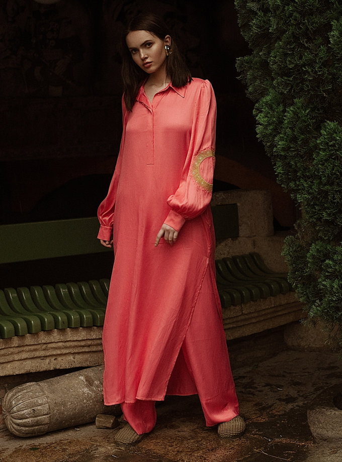 Легка сукня-сорочка з вишивкою WNDR_ss21_vc_05, фото 1 - в интернет магазине KAPSULA