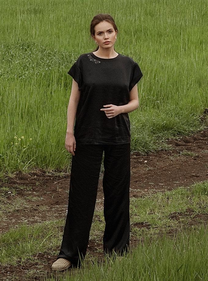 Сатиновые брюки свободного кроя WNDR_ss21_sblck_02, фото 1 - в интернет магазине KAPSULA