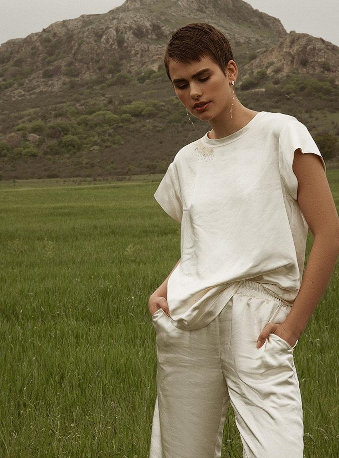 Сатиновые брюки свободного кроя WNDR_ss21_sml_02, фото 1 - в интернет магазине KAPSULA