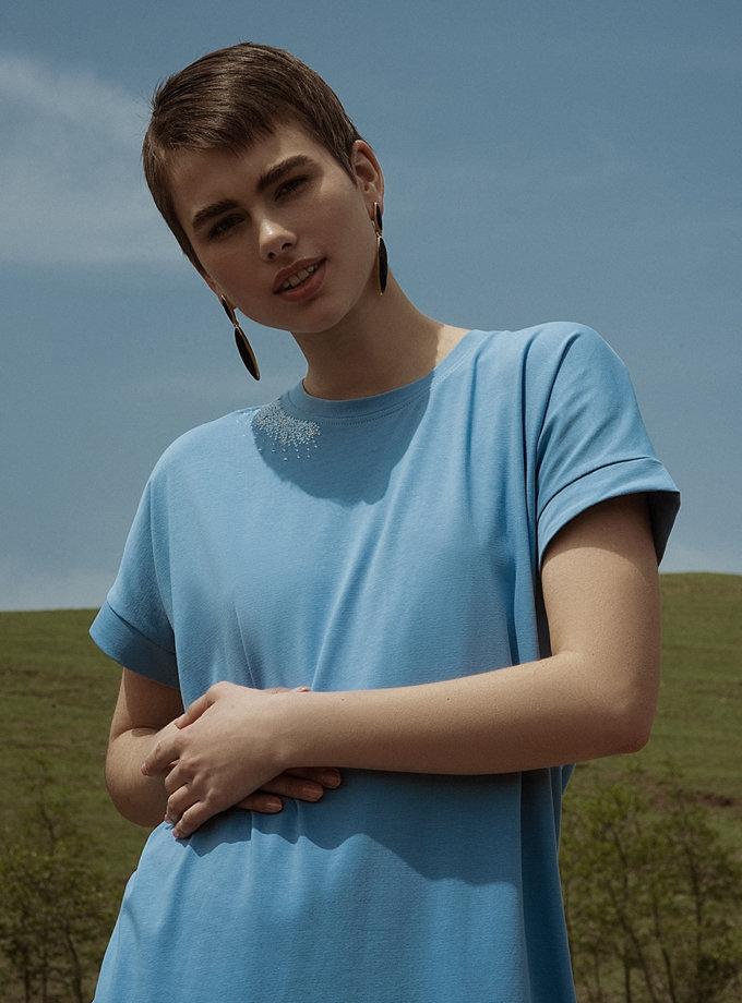 Хлопковое платье-футболка WNDR_ss21_tbl_01, фото 1 - в интернет магазине KAPSULA