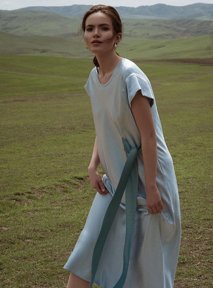 Платье миди с контрастным декором WNDR_ss21_sbl_05, фото 1 - в интернет магазине KAPSULA