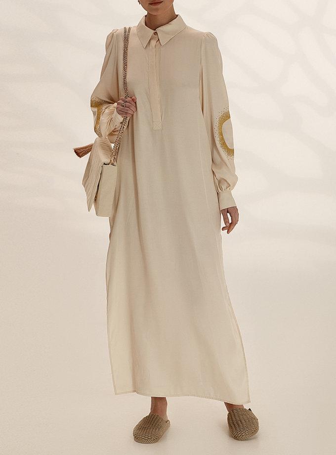 Легкое платье-рубашка с вышивкой WNDR_ ss21_vml_05, фото 1 - в интернет магазине KAPSULA