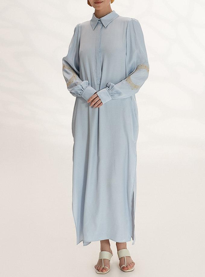 Легкое платье-рубашка с вышивкой WNDR_ss21_vbl_05, фото 1 - в интернет магазине KAPSULA