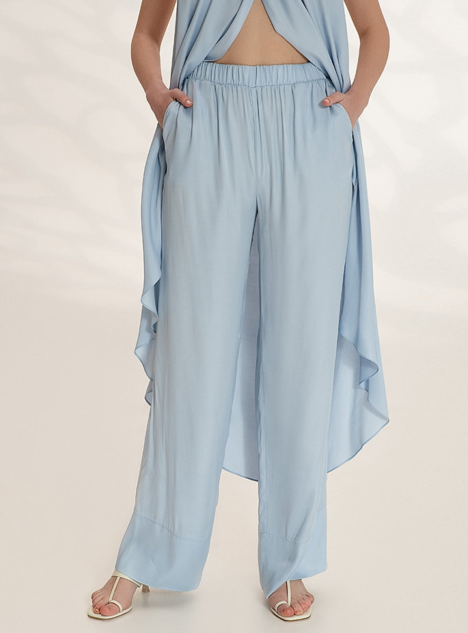 Легкие брюки на резинке WNDR_ss21_vbl_04, фото 1 - в интернет магазине KAPSULA