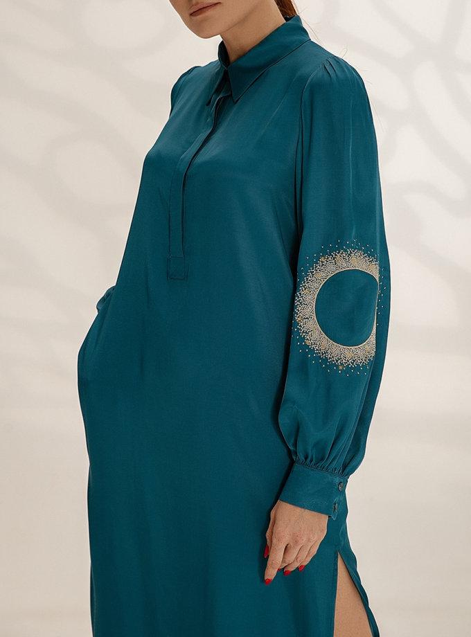 Легкое платье-рубашка с вышивкой WNDR_ ss21_vem_05, фото 1 - в интернет магазине KAPSULA