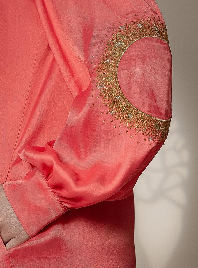 Легкое платье-рубашка с вышивкой WNDR_ss21_vc_05, фото 1 - в интернет магазине KAPSULA