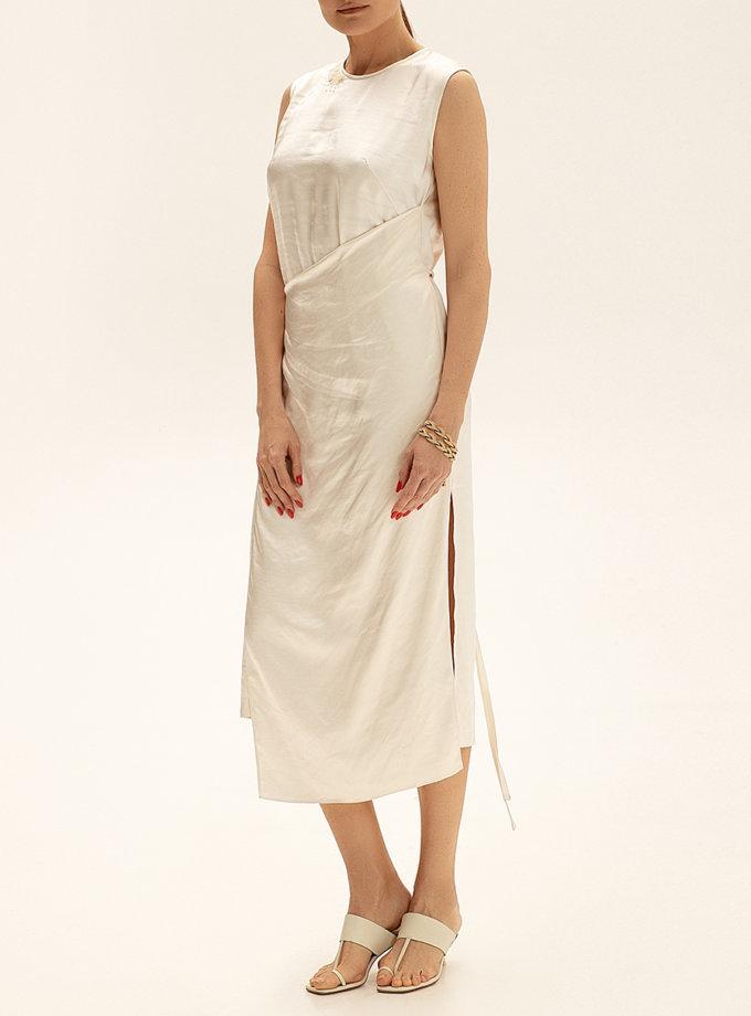 Платье миди с вышивкой WNDR_ss21_sml_04, фото 1 - в интернет магазине KAPSULA