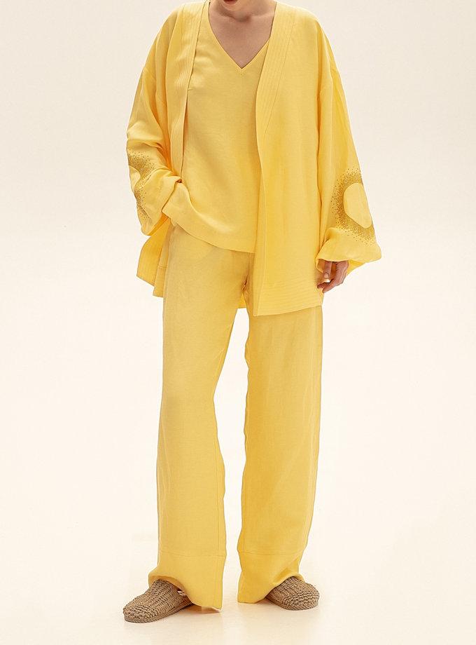 Короткое кимоно из льна WNDR_ss21_lye_01, фото 1 - в интернет магазине KAPSULA
