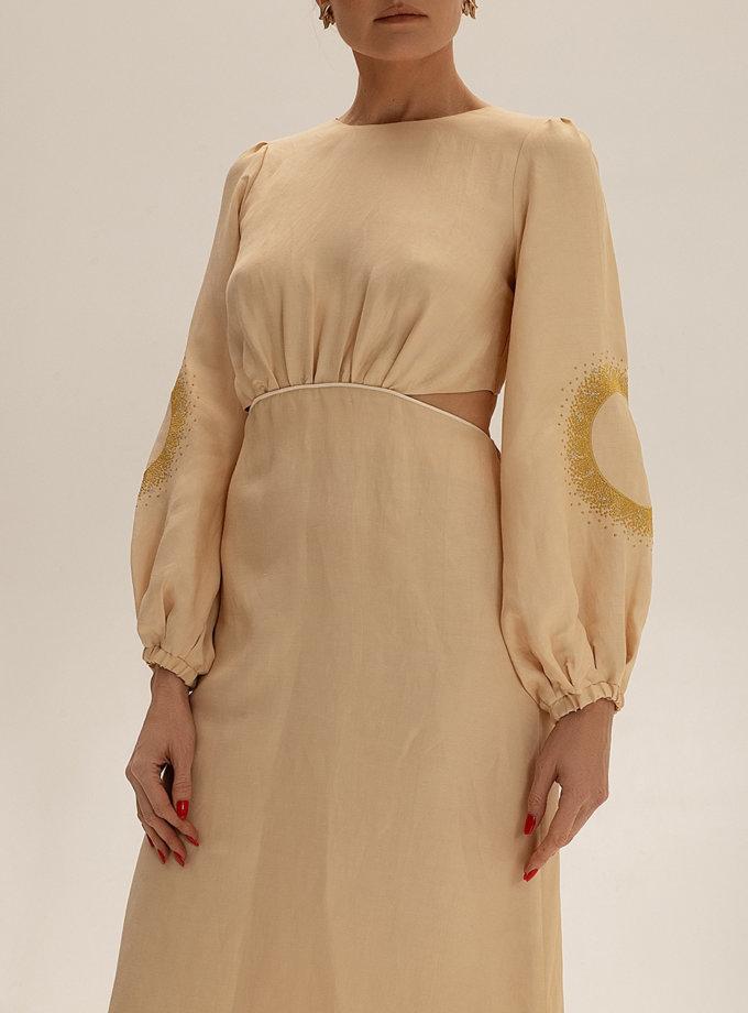 Платье миди из льна WNDR_ss21_lml_10, фото 1 - в интернет магазине KAPSULA