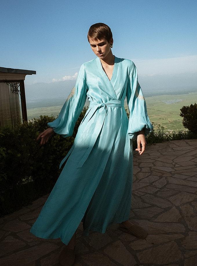 Льняное платье макси на запах WNDR_ss21_lbl_11, фото 1 - в интернет магазине KAPSULA