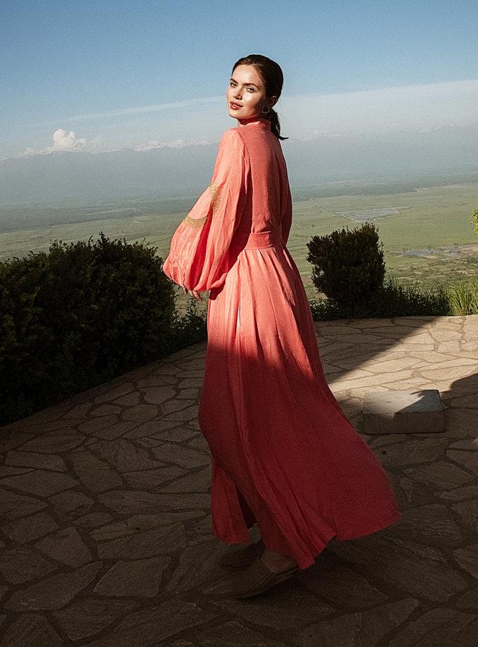 Льняное платье макси на запах WNDR_ss21_lc_11, фото 1 - в интернет магазине KAPSULA