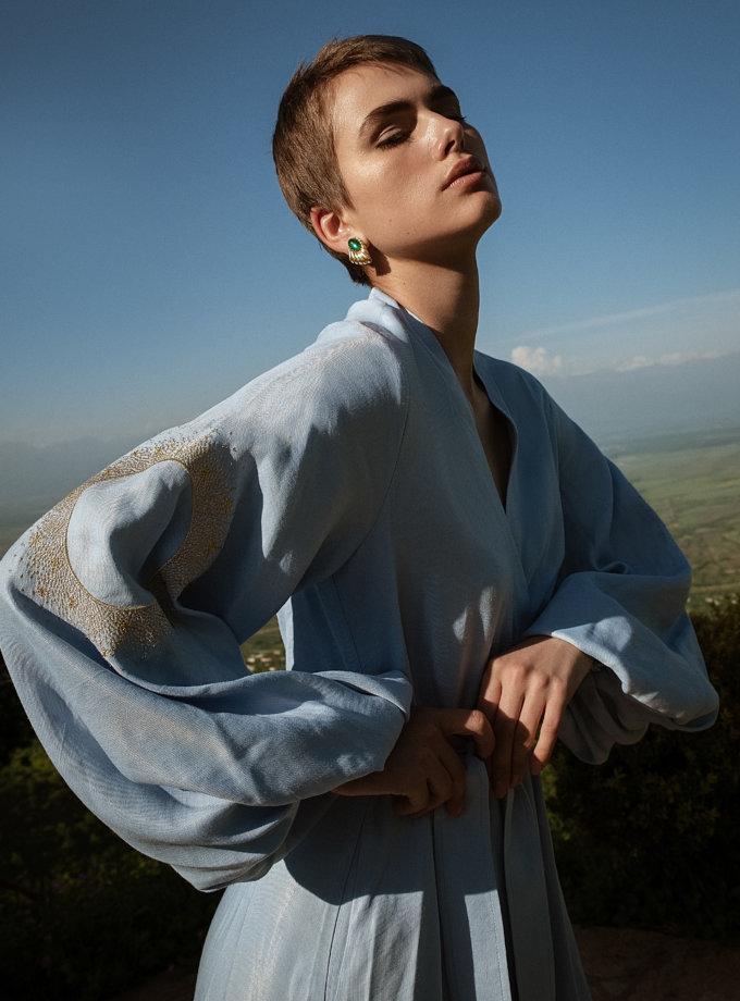 Льняное платье макси на запах WNDR_ss21_lml_11-1, фото 1 - в интернет магазине KAPSULA