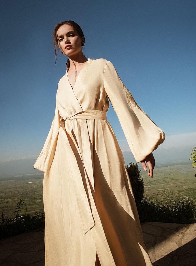Льняное платье макси на запах WNDR_ss21_lml_11, фото 1 - в интернет магазине KAPSULA