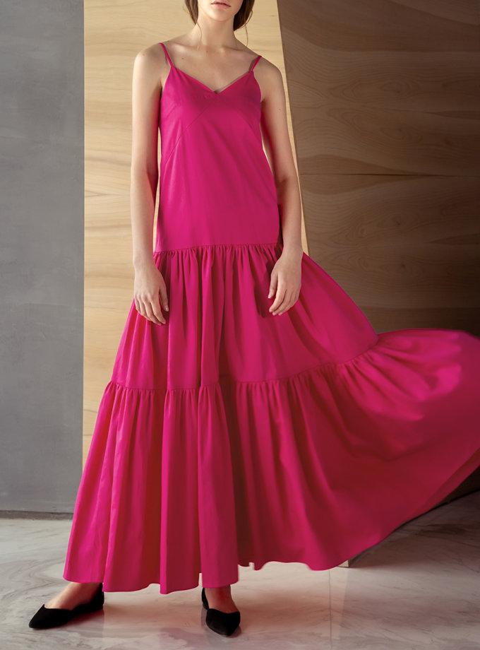 Хлопковое платье макси на бретелях LAB_000113-1, фото 1 - в интернет магазине KAPSULA