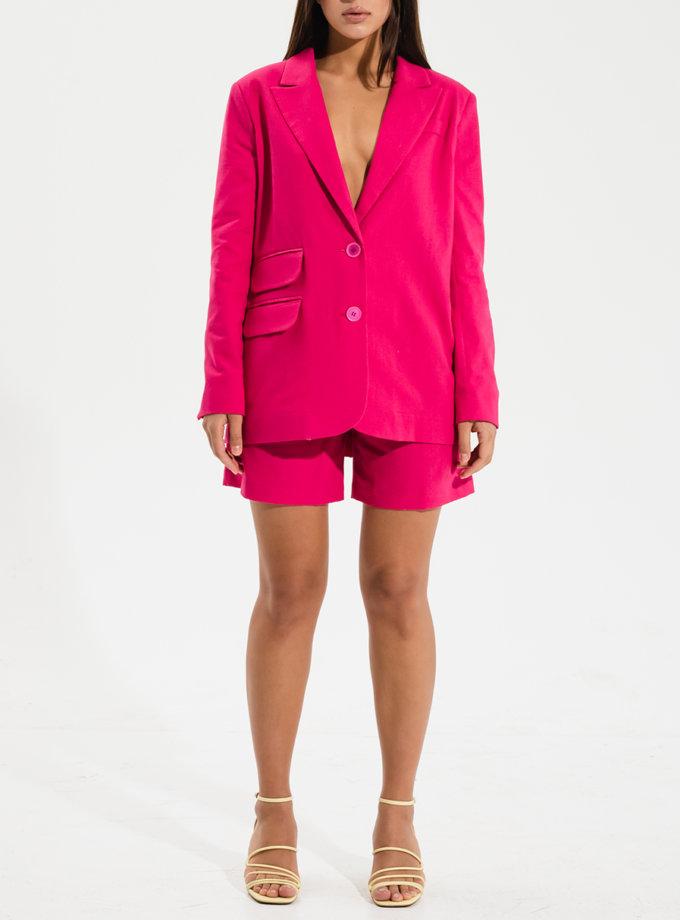 Льняные шорты с поясом RVR_RESS21-2019HP, фото 1 - в интернет магазине KAPSULA