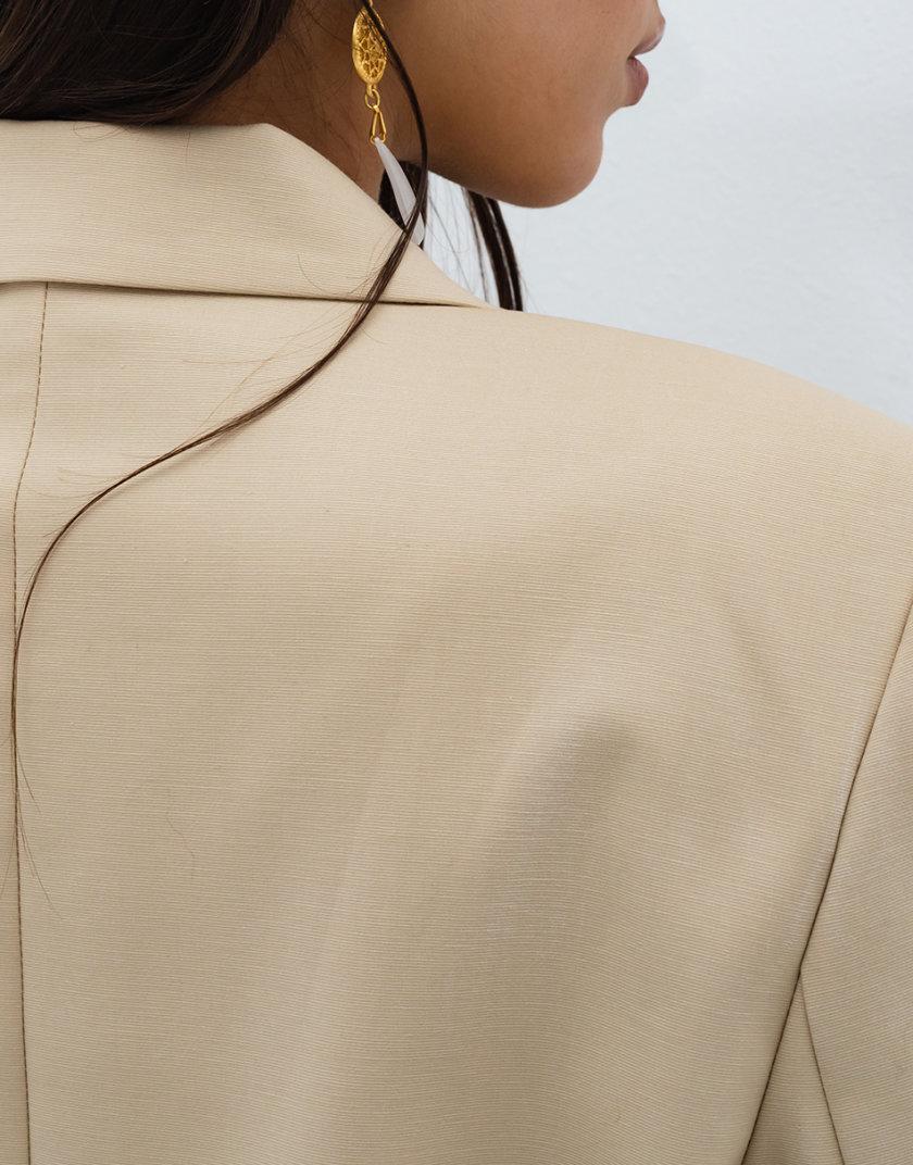Однобортный жакет прямого кроя RVR_RESS21-2021BG, фото 1 - в интернет магазине KAPSULA
