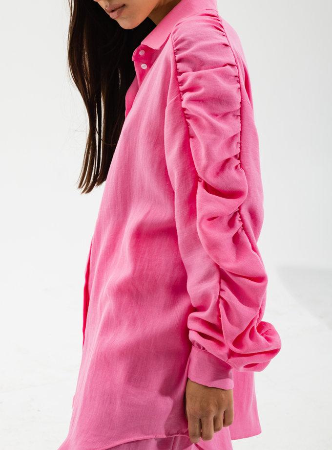 Рубашка свободного кроя с драпировкой RVR_RESS21-2011PK, фото 1 - в интернет магазине KAPSULA