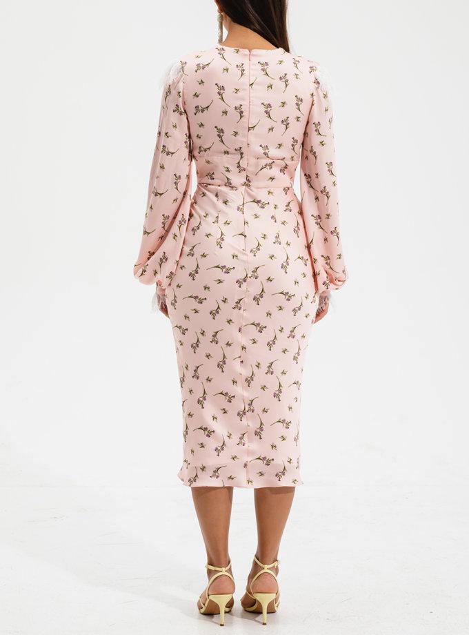 Платье миди с кружевом RVR_RESS2021-2023SAFL, фото 1 - в интернет магазине KAPSULA
