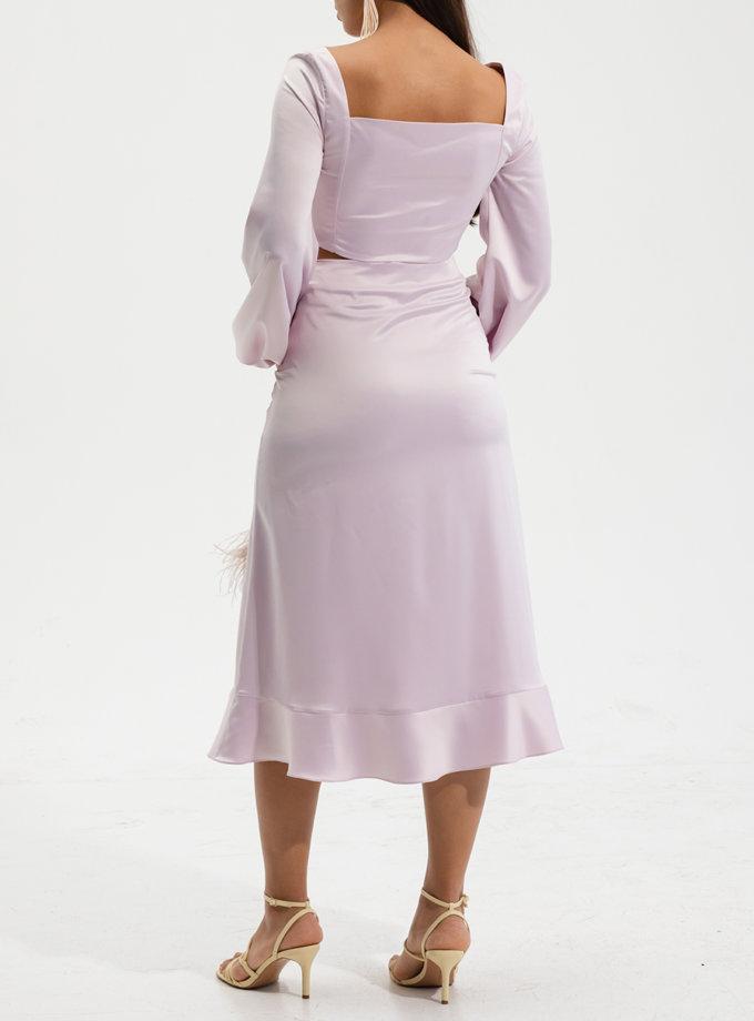 Юбка миди с разрезом RVR_RESS21-2013PY, фото 1 - в интернет магазине KAPSULA