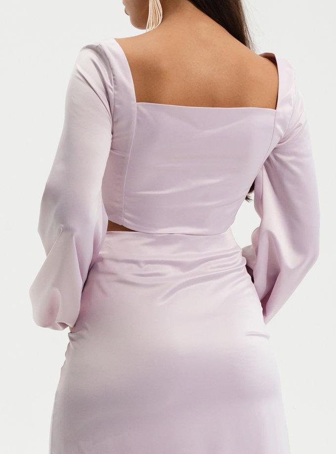 Топ с объемными рукавами RVR_RESS21-2012PY, фото 1 - в интернет магазине KAPSULA