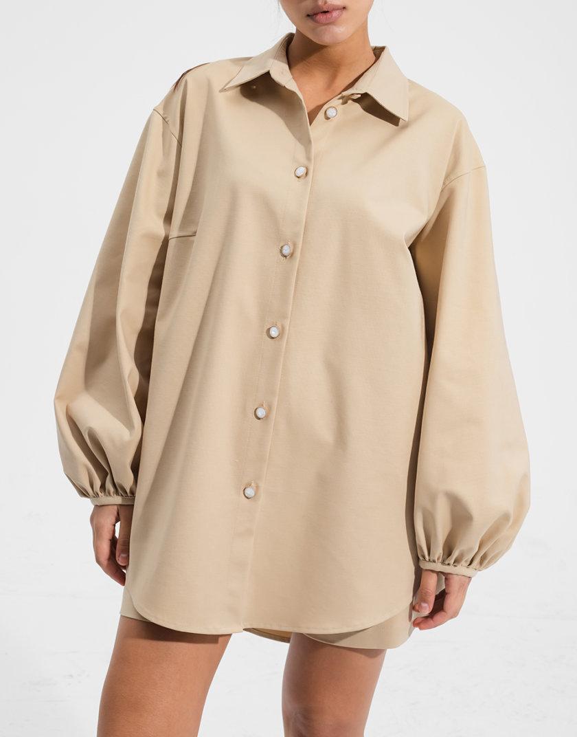 Блуза прямого кроя RVR_RESS21-2006BG, фото 1 - в интернет магазине KAPSULA