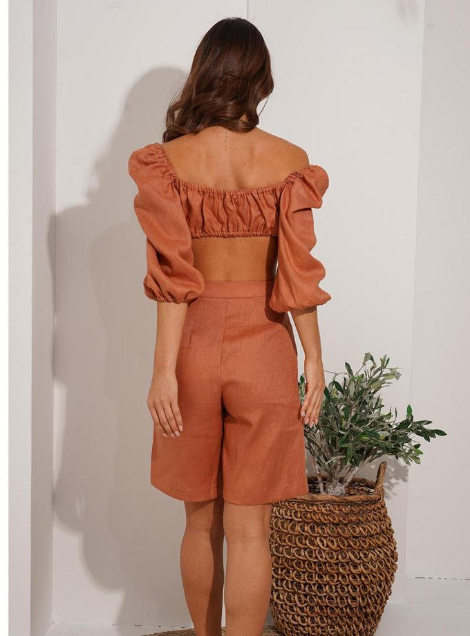Льняной костюм с шортами Beatrice MC_MY6521-1, фото 1 - в интернет магазине KAPSULA