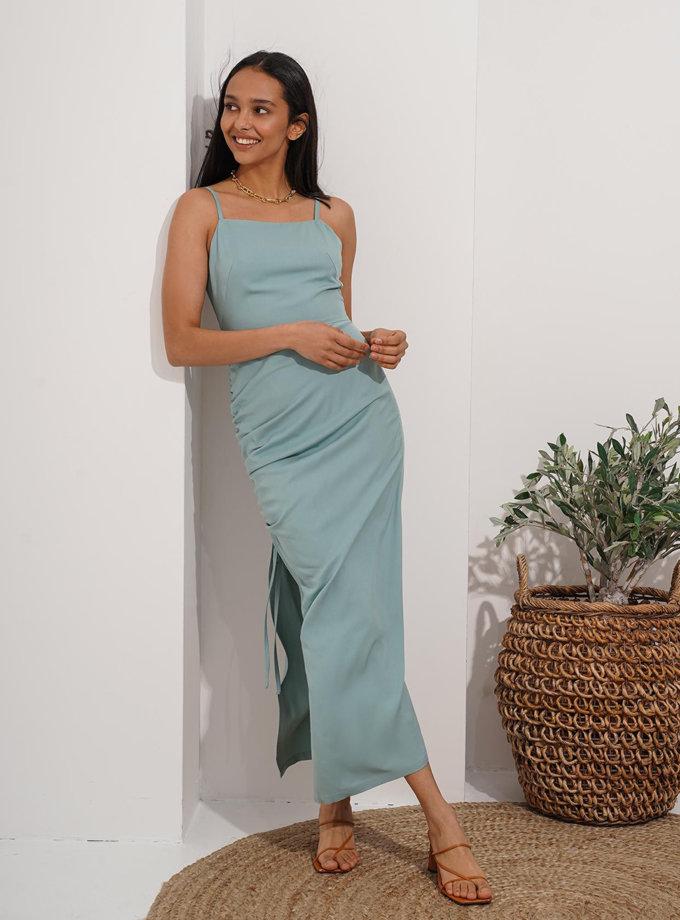 Платье миди с драпировкой Reina MC_MY7221-2, фото 1 - в интернет магазине KAPSULA
