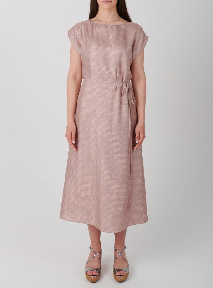 Шелковое платье KLNA_ SL-pink, фото 1 - в интернет магазине KAPSULA