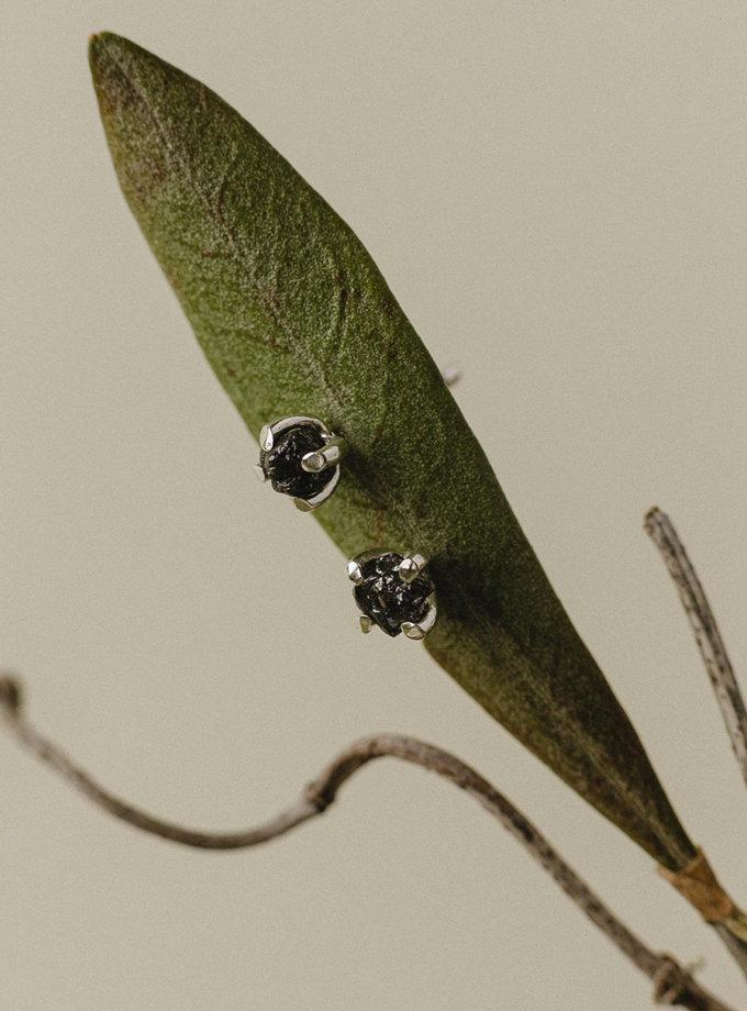 Серьги-гвоздики со вставкой SG_c-9065, фото 1 - в интернет магазине KAPSULA