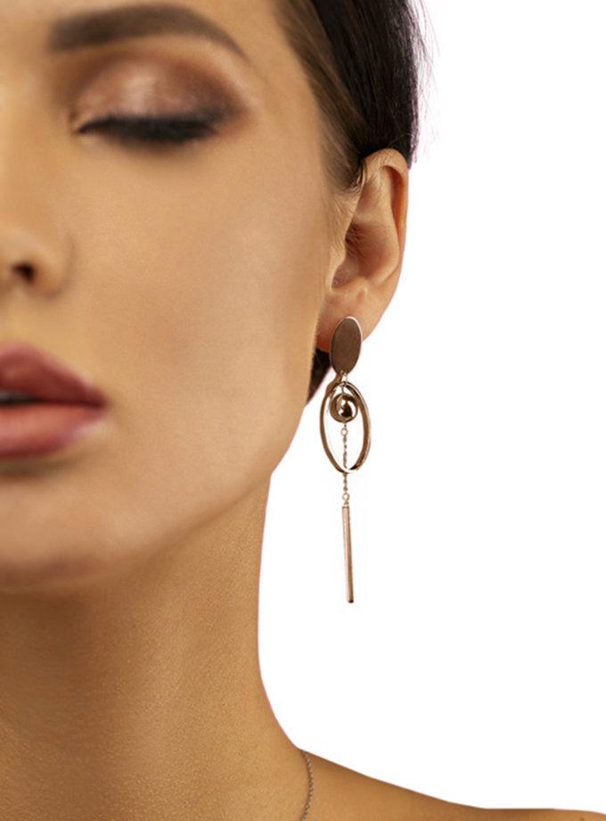 Серьги из красного золота DUD_2_10_074-1, фото 1 - в интернет магазине KAPSULA