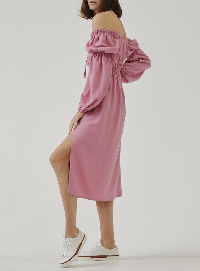 Платье с объемными рукавами MRZZ_mz_103621, фото 1 - в интернет магазине KAPSULA
