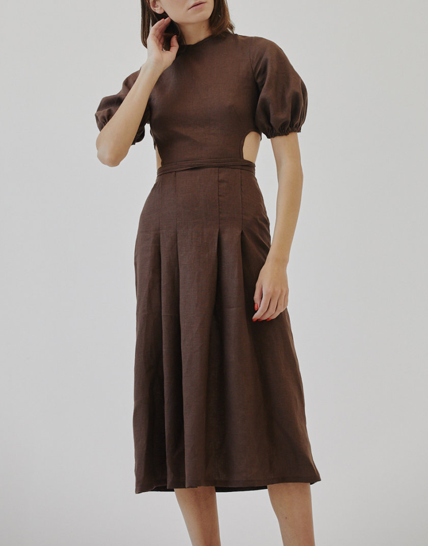 Льняное платье MRZZ_mz_103921, фото 1 - в интернет магазине KAPSULA