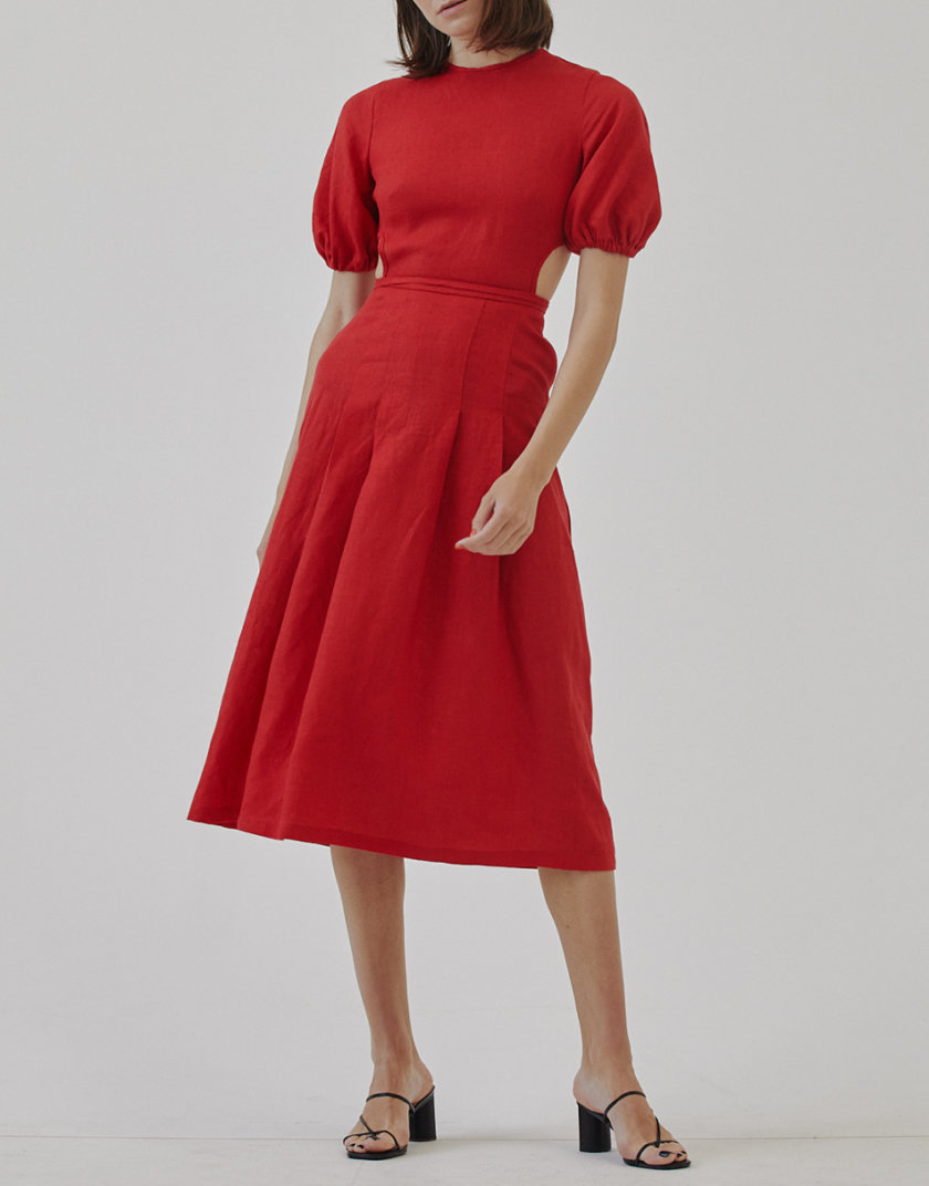 Льняное платье MRZZ_mz_104021, фото 1 - в интернет магазине KAPSULA