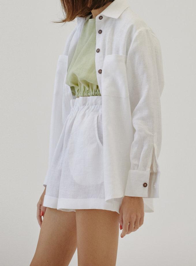Льняная рубашка MRZZ_mz_104421, фото 1 - в интернет магазине KAPSULA
