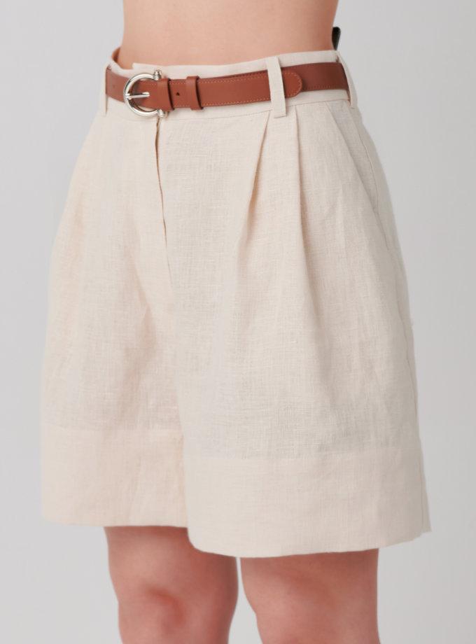 Шорты из льна KLNA_shorts-white, фото 1 - в интернет магазине KAPSULA