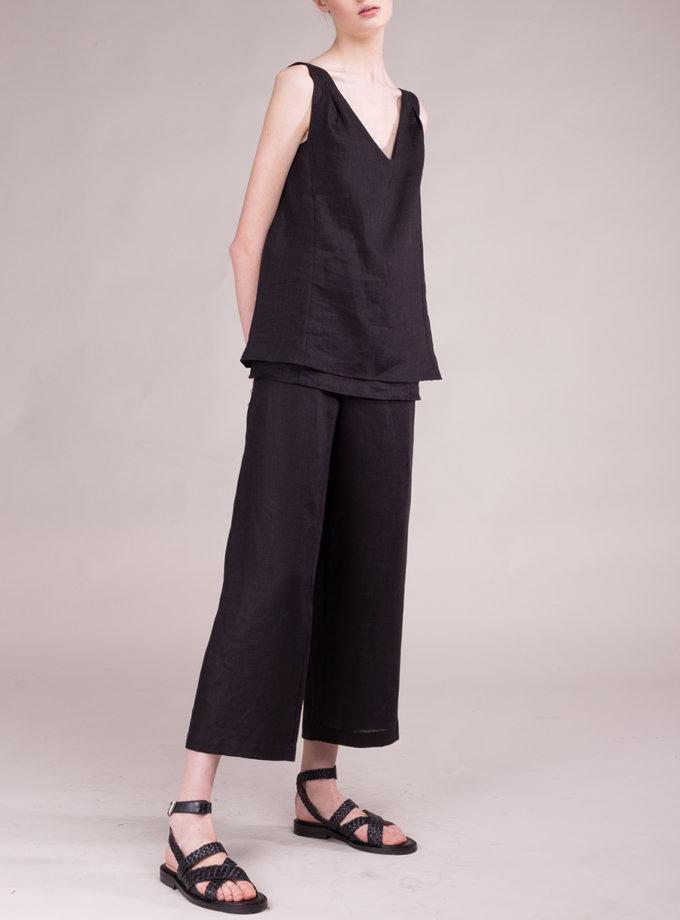 Льняные штаны свободного кроя ALOT_030158, фото 1 - в интернет магазине KAPSULA