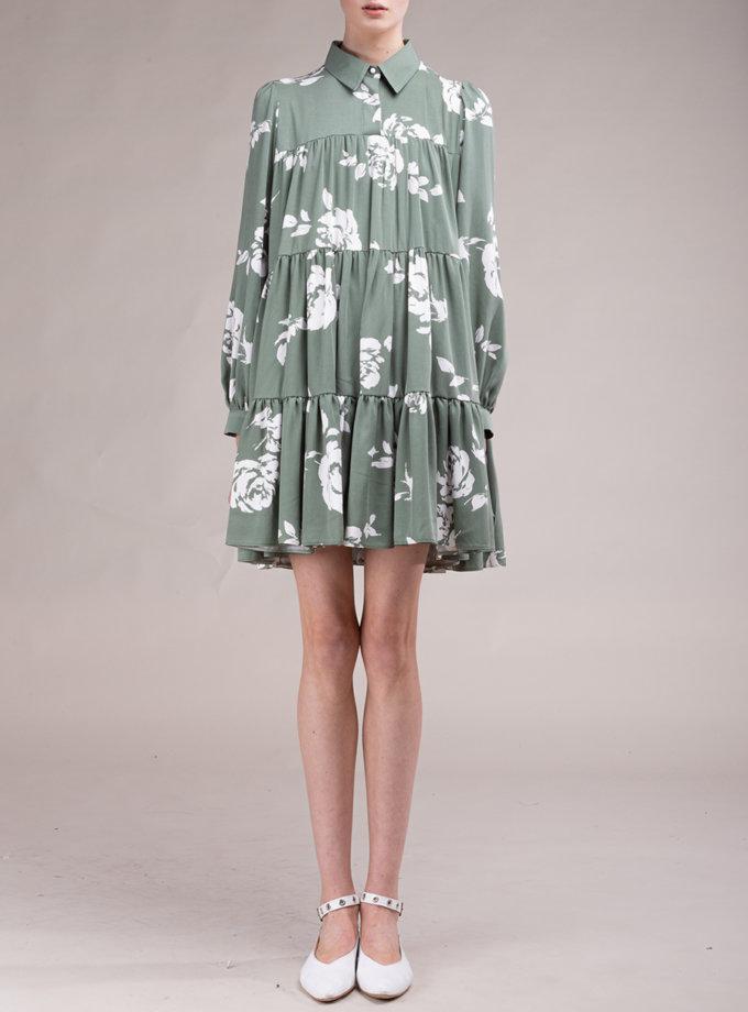 Хлопковое платье в цветочный принт ALOT_100487, фото 1 - в интернет магазине KAPSULA