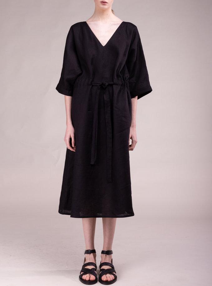 Платье-кимоно из льна ALOT_100490, фото 1 - в интернет магазине KAPSULA