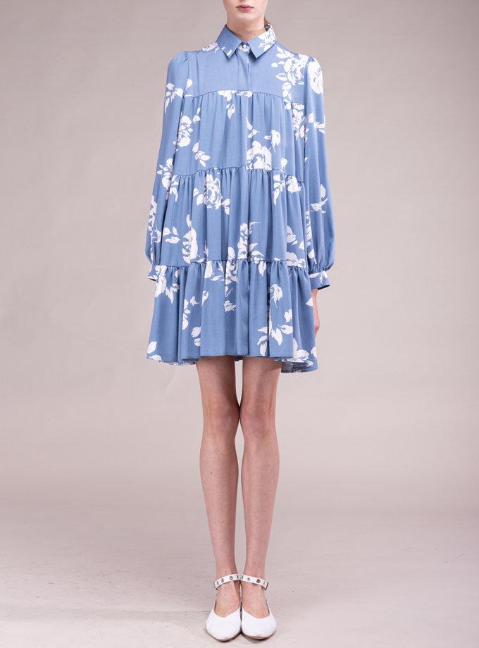 Бавовняна сукня з квітковим мотивом ALOT_100496, фото 1 - в интернет магазине KAPSULA