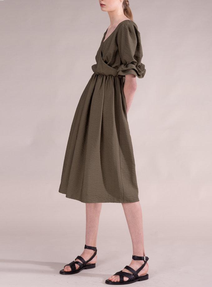 Льняное платье с рукавом-фонарик ALOT_100502, фото 1 - в интернет магазине KAPSULA