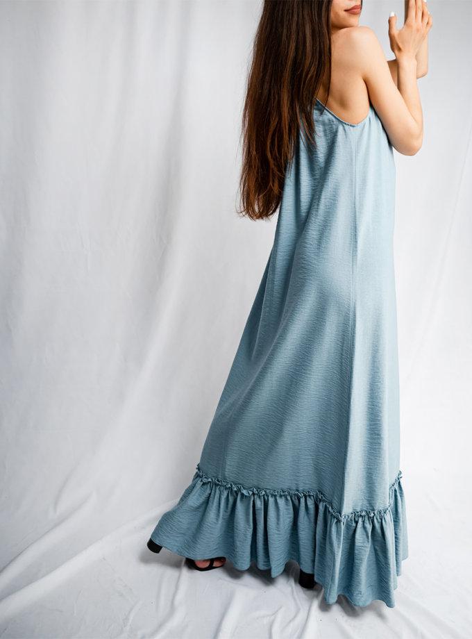 Хлопковый сарафан макси SHE_sundress_blue, фото 1 - в интернет магазине KAPSULA